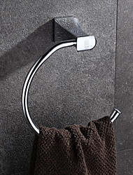 HPB®,Towel Ring Chrome Wall Mounted 20*21cm(7.9*8.3 inch) Brass Contemporary