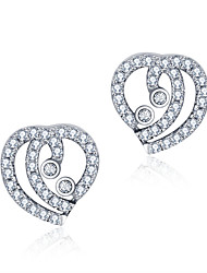 925 Sterling Silver Women Jewelry Fashion High Quality Stud Earrings with Cubic Zirconia