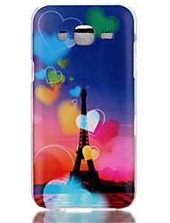 Für Samsung Galaxy Hülle Muster Hülle Rückseitenabdeckung Hülle Eiffelturm PC Samsung J7 / J5 (2016) / J5 / J1