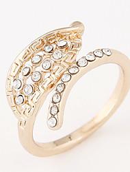 Women's New Fashion Elegant Sweet Leaves Rhinestone Ring