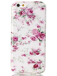 Pour Coque iPhone 6 / Coques iPhone 6 Plus Motif Coque Coque Arrière Coque Fleur Flexible TPU iPhone 6s Plus/6 Plus / iPhone 6s/6