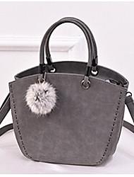 Women PU Shoulder Bag / Tote Purple / Gray