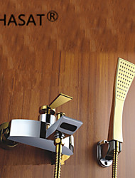 Bathtub Faucet / Shower Faucet - Contemporary - Waterfall - Brass (Chrome)