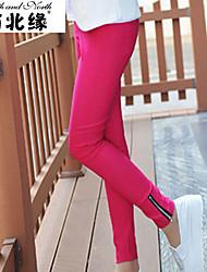 Fashion show thin woven zipper foot mouth nine Leggings Pants pencil pants K1759