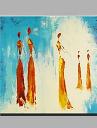 Peint à la main PersonnageModern Un Panneau Toile Peinture à l'huile Hang-peint For Décoration d'intérieur