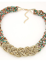 Necklace Strands Necklaces / Torque Jewelry Daily / Casual Fashion Alloy Assorted Color 1pc Gift
