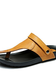 Men's Shoes Outdoor / Work & Duty / Casual Leather Sandals Yellow / Khaki