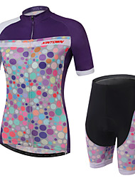 XINTOWN® Cycling Jersey with Shorts Women's Short Sleeve BikeBreathable / Quick Dry / Ultraviolet Resistant / Ultra Light Fabric /