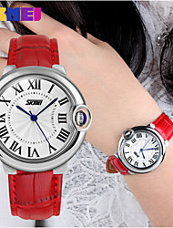 SKMEI® Lady's Leather Band Japanese Quartz 30M Water Resistant Fashion Watch Cool Watches Unique Watches Strap Watch