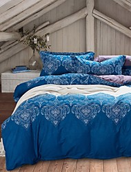 Blue Bohemia Style Bedding Sets Queen Size Cotton Home Textile