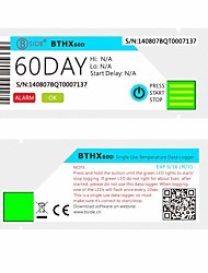 Bside BTHX60D Single Use Waterproof Temperature Data Logger The Longest 60 Days of Temperature Data Can Be Recorded
