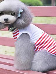 t-shirt voor honden blauw / rood voorjaar / zomer xs / s / m / l / xl katoen