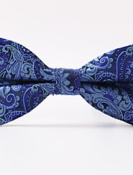 Royal Blue Paisley  A Formal Butterfly Bow Tie