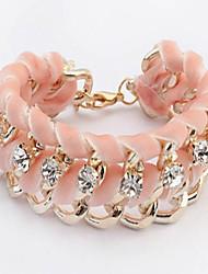 Cute / Casual Alloy / Rhinestone Link/Chain / Beaded Bracelet