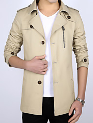 The jacket coat size slim youth fashion business long party led 2016 new men's cotton in spring