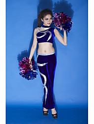Performance Outfits Women's Performance Velvet Appliques 2 Pieces Dark Blue