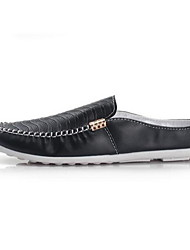 Men's Shoes Casual Leatherette Loafers Black / White