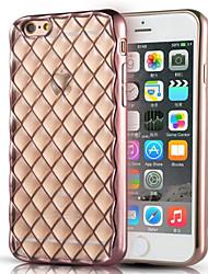 luxo acolchoado escudo do telefone caso chapeamento TPU móvel para iPhone 6 Plus / 6s mais (cores sortidas)