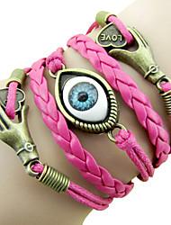 Bracelet Bracelets Alliage Cuir Quotidien Décontracté Sports Bijoux Cadeau Rouge Rose Cuivré,1pc