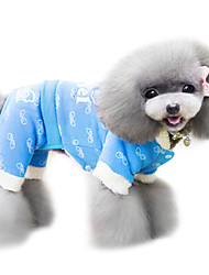 Dog Coat / Clothes/Clothing Blue / Pink Spring/Fall Fashion