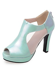 Women's Shoes Synthetic Stiletto Heel Heels / Peep Toe Heels Dress / Casual Green / Pink / White / Light Green