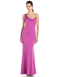 Women's Sexy Solid Sheath Dress , Strap Maxi Polyester