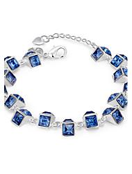Bracelet Chaînes & Bracelets Cristal / Cuivre / Plaqué argent Soirée / Quotidien / Décontracté / Sports Bijoux Cadeau Argent,1pc
