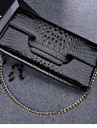 Sac à Bandoulière / Minaudière / Sac de soirée / Mobile Bag Phone - Rouge / Noir - Enveloppe - Cuir de Vache - Femme