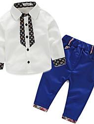 Boy's Cotton / Polyester Clothing Set,Spring Print