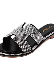 Women's Shoes Flat Heel Slingback Sandals Casual Black / Silve