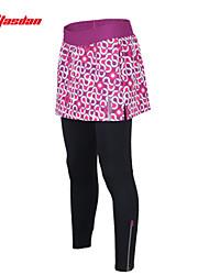 TASDAN Ciclismo Vestidos y faldas / Pantalones / Medias Mujer BicicletaTranspirable / Secado rápido / Almohadilla 3D / Reflectante /