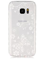 Para Funda Samsung Galaxy Transparente Funda Cubierta Trasera Funda Mariposa TPU SamsungS7 / S6 edge / S6 / S5 Mini / S5 / S4 Mini / S4 /