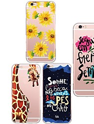 For iPhone 5 Case Ultra-thin / Transparent / Pattern Case Back Cover Case Cartoon Soft TPU iPhone SE/5s/5