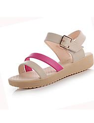 Women's Shoes Leatherette Flat Heel Comfort Sandals Casual Blue / Fuchsia