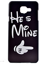 For Samsung Galaxy Case Pattern Case Back Cover Case Word / Phrase PC Samsung A7(2016) / A5(2016) / A3(2016) / A7 / A5 / A3