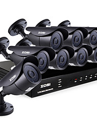 ZOSI® 8 Channel H.264 HDMI D1 DVR 8 pcs 800TVL Night Vision 120ft  Outdoor CCTV Camera Security System