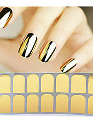 -Finger / Zehe-3D Nails Nagelaufkleber-PVC-1pcs full cover adhesive nail stickerStück -14tips stickerscm