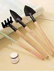 outils de jardinage 3 pcs un ensemble petite pelle / rake / bêche fleur en pot plantation