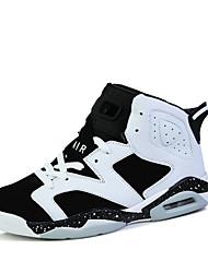 Chaussures Noir / Jaune / Blanc Similicuir Basketball Homme / Femme
