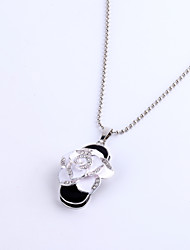 16GB Necklace Flower Jewelry USB 2.0 Rotatable Flash Memory Stick Drive U Disk ZP-18/ZP-19 White Pink
