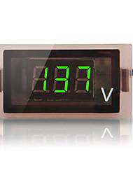 vert numérique 12v-24v voiture camion conduit jauge de panneau de tension voltmètre