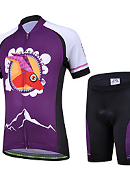 cheji® Cycling Jersey with Shorts Kid's Unisex Short Sleeve Bike Sleeves Jersey Shorts Clothing SuitsQuick Dry Ultraviolet Resistant
