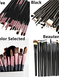 20pcs Goat/Pony/Horse hair Makeup Brushes set Professional   blush brush shadow/eyeliner/eyelash/brow/lip brush cosmetic brush kit makeup tool