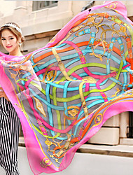The New Spring And Autumn And Winter Long Chiffon Scarf Thin Large Beach Chiffon Scarves(Random Color)