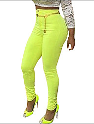 Shaperdiva Women's High Waist Yellow Sculpt Butt Lifting Skinny Jeans