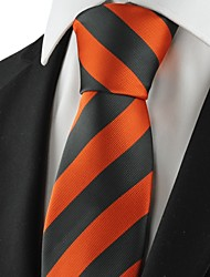 Krawatte(Grau / Orange,Polyester)Gestreift