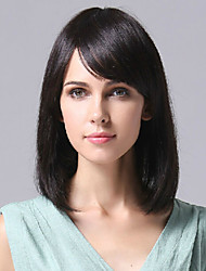 100% Human Hair Wig Bobo Capless Straight Hair Wig