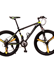 Dequilon Warriors 26-inch mountain bike dual disc 21 speed shifting dark green Mito enhanced version