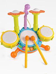 bunte Drum-Set Licht Multifunktions-Kunststoff-Musikspielzeug nach oben