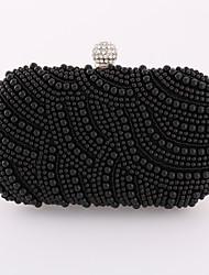 Minaudière / Sac de soirée / Portefeuille / Porte-chéquier / Mobile Bag Phone-Blanc / Noir-Minaudière-Métallique / Satin-Femme